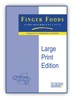 Finger Foods Large Print